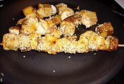 Photo Dukan Brochettes de poulet et tofu satay