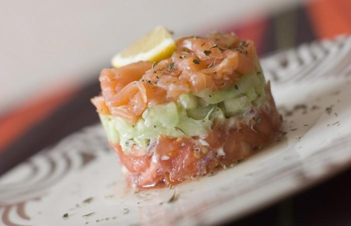 Recette de noel tartare de saumon