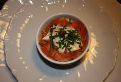 Photo Dukan Carpaccio de saumon et artichaut