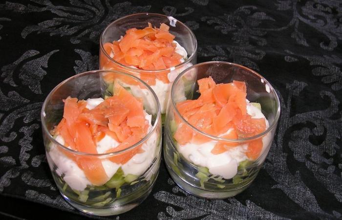verrine fraicheur saumon concombre recette dukan pl par fanny recettes et forum dukan pour le. Black Bedroom Furniture Sets. Home Design Ideas