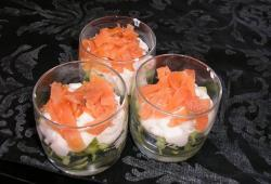 Photo Dukan Verrine fraicheur saumon/concombre