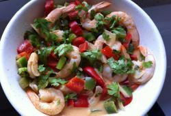 Photo Dukan Curry rouge Thaï aux crevettes