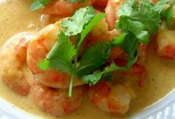 Photo Dukan Curry indien de crevettes