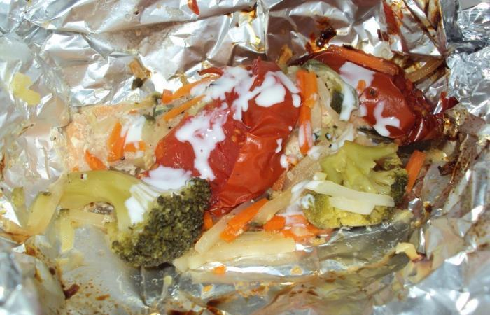 Saumon en papillote presque tout surgel recette dukan - Cuisiner saumon surgele ...