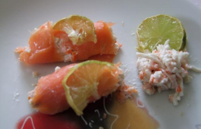 sushi de saumon fum au surimi cr meux recette dukan pp par bbboop recettes et forum dukan. Black Bedroom Furniture Sets. Home Design Ideas