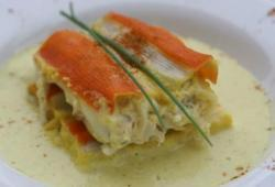 Photo Dukan Cannelloni de surimi au poisson sauce curry