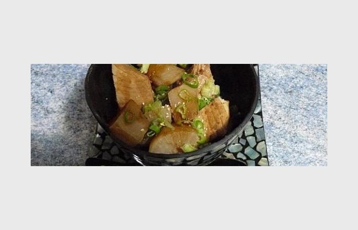 radis blanc et pav de thon jaune buri daikon recette japonaise recette dukan pl par ktia. Black Bedroom Furniture Sets. Home Design Ideas