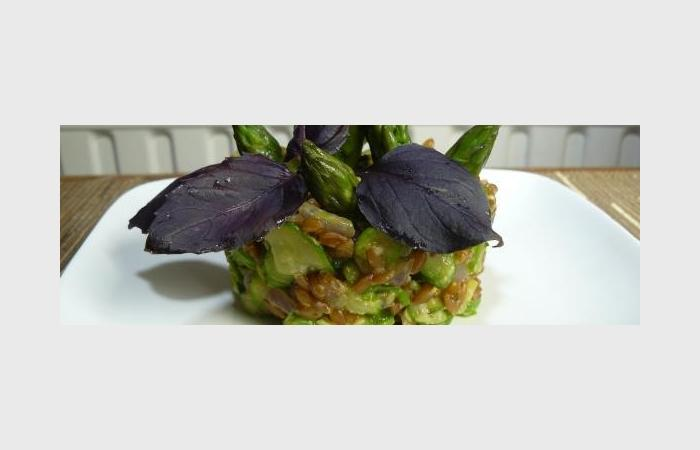 Risotto de petit peautre aux asperges et courgette - Cuisiner le petit epeautre ...