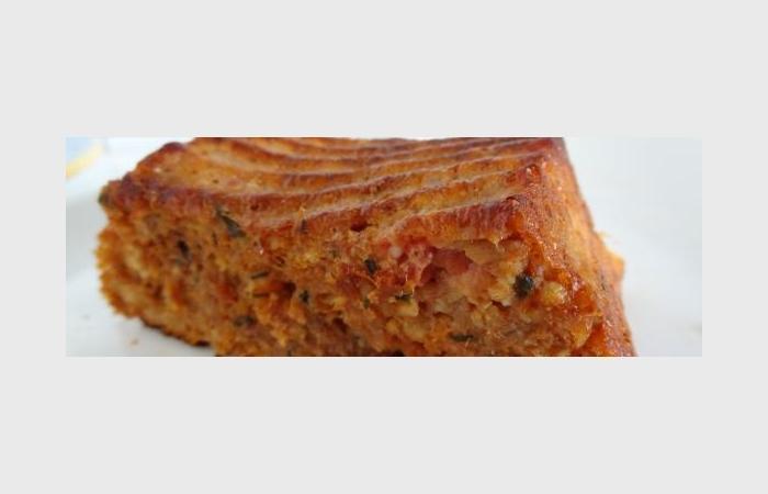 Cake Au Thon Et Tomate Pelees