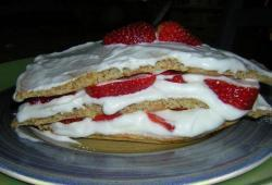 Photo Dukan Mille-feuilles chantilly à la fraise