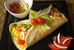 Photo Dukan Salade mexicaine en tortilla