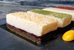 Photo Dukan Unique (entremet au yuzu, matcha et cacao)