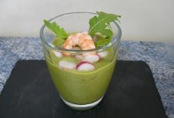 Photo Dukan Gaspacho asperges roquette tofu soyeux (soupe froide)