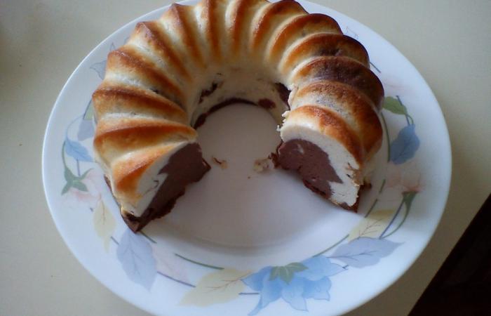 double flan marbr chocolat poire la poudre de blanc d 39 oeuf recette dukan pp par rametal. Black Bedroom Furniture Sets. Home Design Ideas