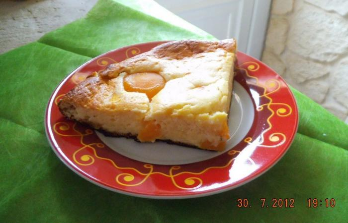 Régime Dukan (recette minceur) : Cheese cake abricot pêche  #dukan http://www.proteinaute.com/recette-cheese-cake-abricot-peche-8955.html