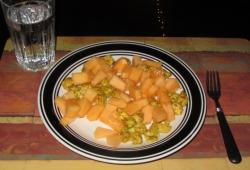 Photo Dukan Salade de melon et poulet au curry
