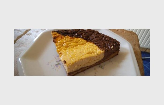 Régime Dukan (recette minceur) : Cheese cake chocolat vanille  #dukan http://www.proteinaute.com/recette-cheese-cake-chocolat-vanille-9189.html